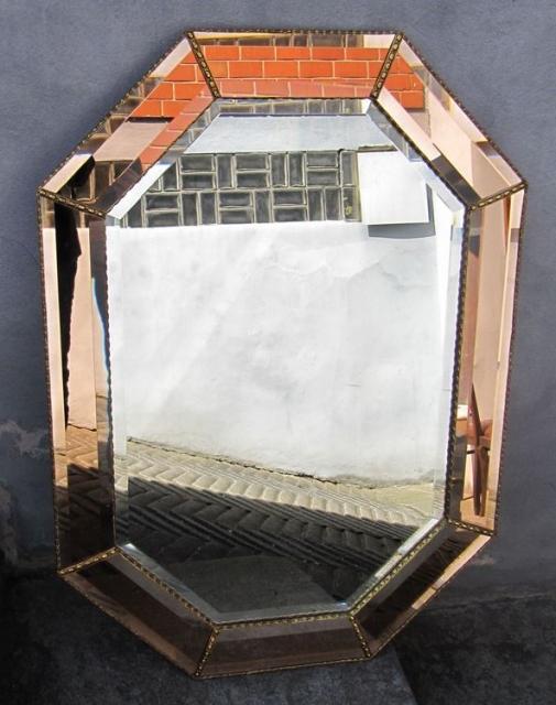 eleganter hochwertiger 8 eckiger spiegel mit facettenschliff ca 66 cm x 92 cm schariwari shop. Black Bedroom Furniture Sets. Home Design Ideas