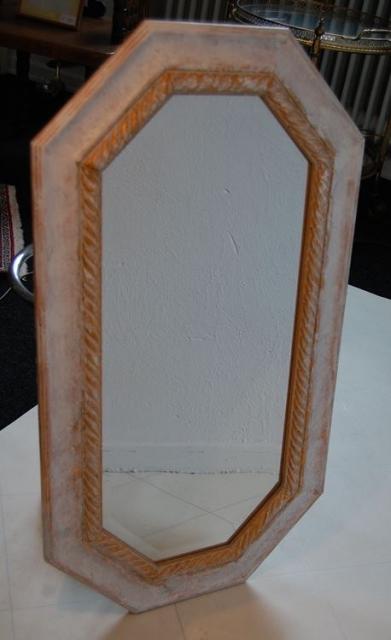 spiegel 8 eckig im shabby look ca 81 cm x 44 cm