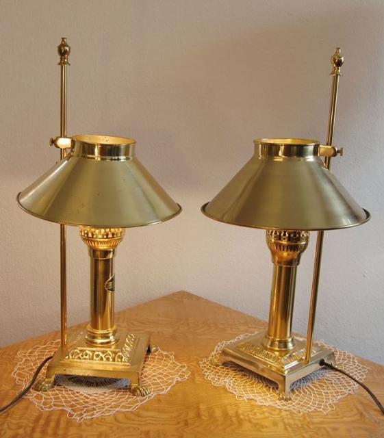 2 wunderbare tischlampen messing replikate aus dem for Lampen replikate