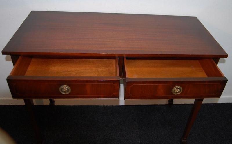 englischer konsolentisch regency style mahagoni mit. Black Bedroom Furniture Sets. Home Design Ideas