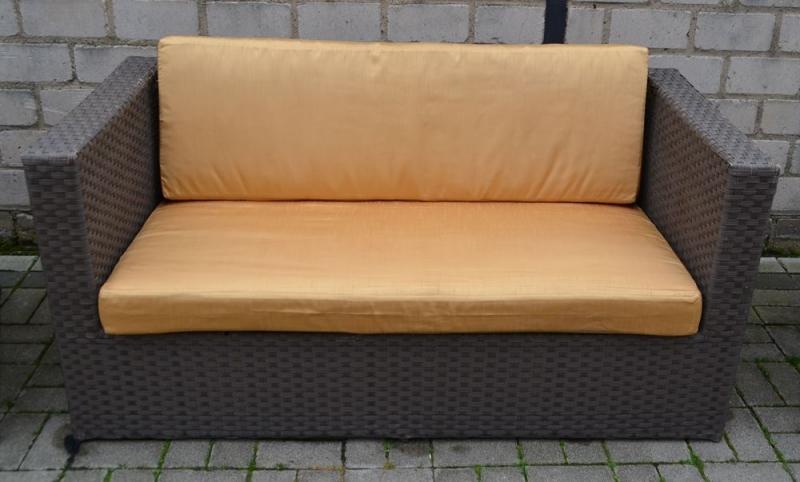 4 tlg set lounge gartenm bel aus polyrattan mit. Black Bedroom Furniture Sets. Home Design Ideas