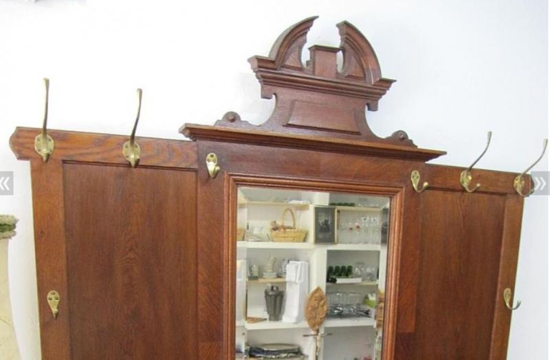antike gr nderzeit garderobe in nu baum aus der zeit um 1880 1890 schariwari shop. Black Bedroom Furniture Sets. Home Design Ideas