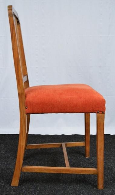 2 art deco st hle mit wurzelholz und rotem velours. Black Bedroom Furniture Sets. Home Design Ideas