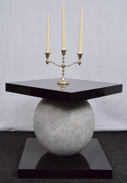 designer stein granitkugel tisch massives holz schariwari shop. Black Bedroom Furniture Sets. Home Design Ideas