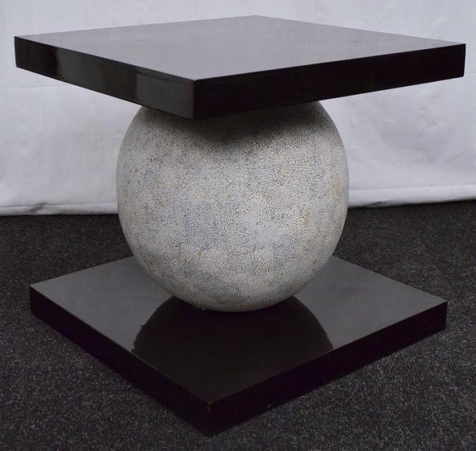 Designer stein granitkugel tisch massives holz for Designer tisch holz